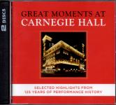 Great Moments At Carnegie Hall - Selected Highlights From 125 Years Of Performance History (2 CD)