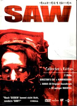 Saw 1 (Collectors Edition)  (Kino & Directors Cut-Fassung) (2 DVD & CD & 32 Seitiges Booklet) (Siehe Info unten)