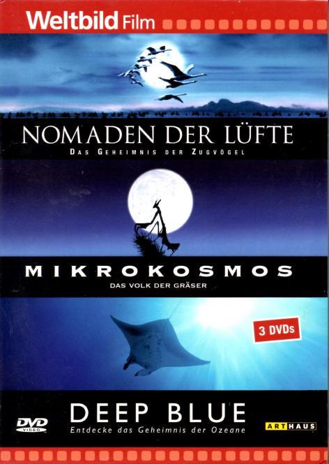 Nomaden Der Lüfte & Mikrokosmos & Deep Blue (3 DVD) (Doku) (Rarität)