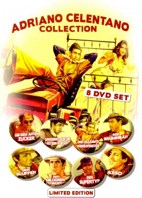 Adriano Celentano - Collection (8 Filme / 8 DVD) (Siehe Info unten)