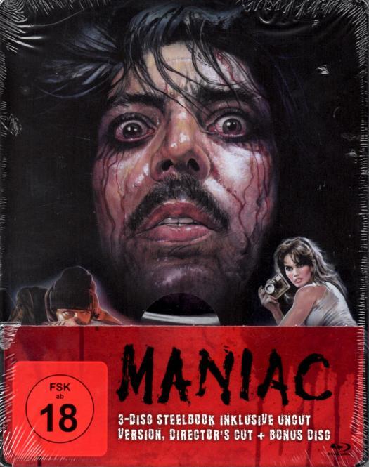 Maniac (Steelbox) (3 Disc / Uncut & Directors Cut & Bonus-Disc)