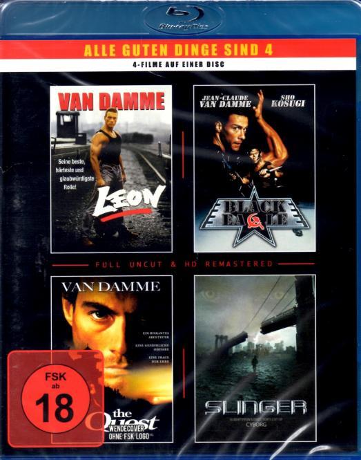 Van Damme - 4 Filme (Leon - Black Eagle - The Quest - Slinger/Cyborg)