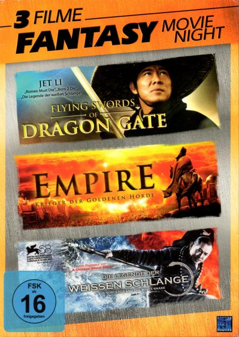 Fantasy - Movie Night-Box (3 DVD) (Flying Swords Of Dragon Gate & Empire & Die Legende Der Weissen Schlange)