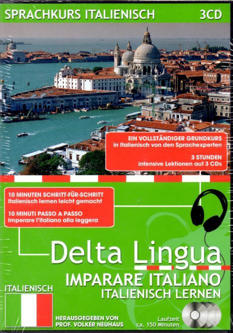 Sprachkurs Italienisch (3 CD) (Ein Vollständiger Grundkurs Mit Intensive Lektionen Und Kursbuch)