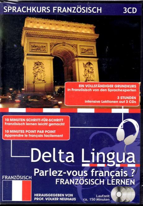 Sprachkurs Französisch (3 CD) (Ein Vollständiger Grundkurs Mit Intensive Lektionen Und Kursbuch)
