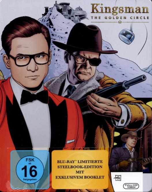 Kingsman 2 - The Golden Circle (Limited Steelbox Edition & Exklusivem Booklet) (Rarität)