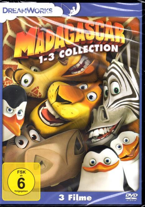 Madagascar 1-3 - Collection (3 DVD)