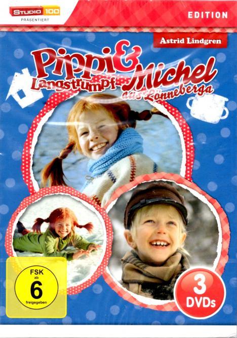 Pippi Langstrumpf Und Michel Aus Lönneberga (3 Filme / 3 DVD) (Rarität)